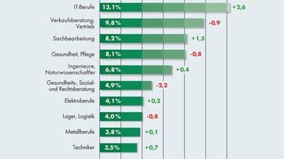 DEKRA Top 10 Berufsfeldgruppen