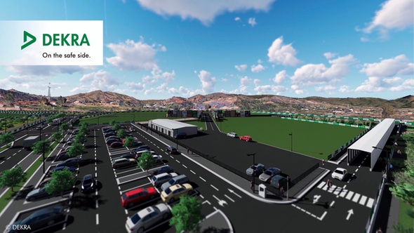 DEKRA builds test area for connected driving in Málaga, Spain