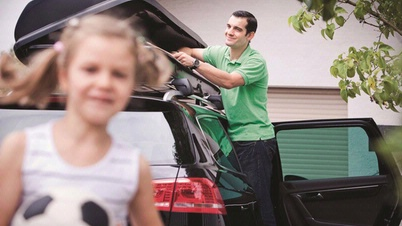 Beladen des Fahrzeuges