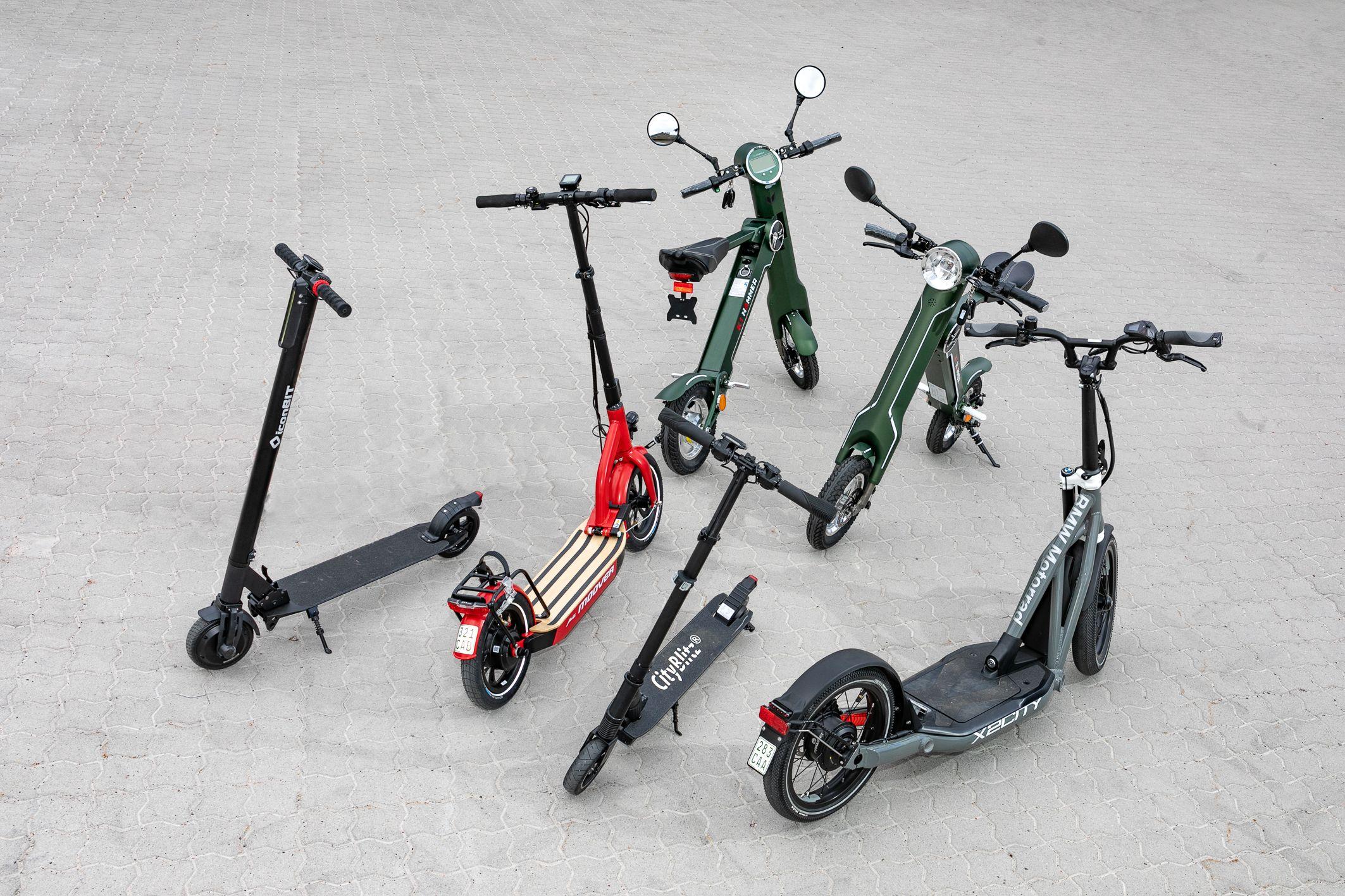 Elektro Roller Für Straßenverkehr Freigegeben