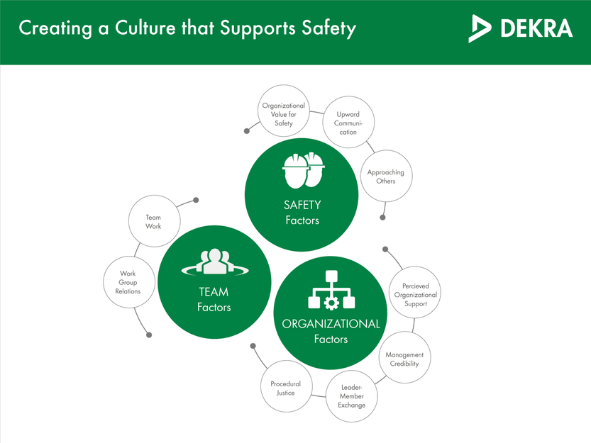 Our safety cultural assessment tool determines nine distinct factors of organizational culture – DEKRA