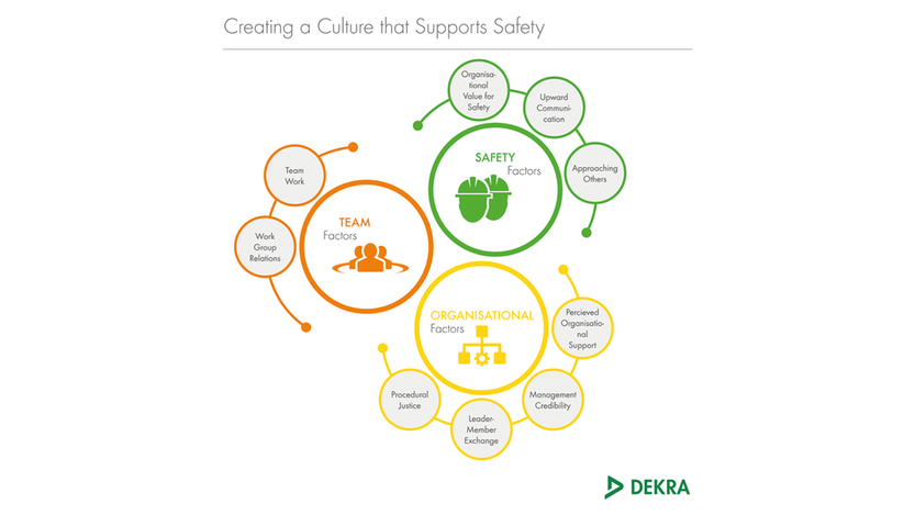Our safety cultural assessment tool determines nine distinct factors of organisational culture – DEKRA