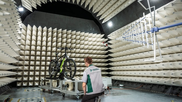 EMC laboratory with electric bicycles