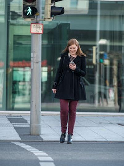 Fußgänger Smartphones