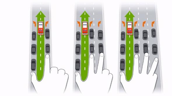 Beispiele für Rettungsgasse